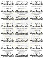 Authentic Handmade Stickers - Made In The UK - Rectangles 63mm x 34mm